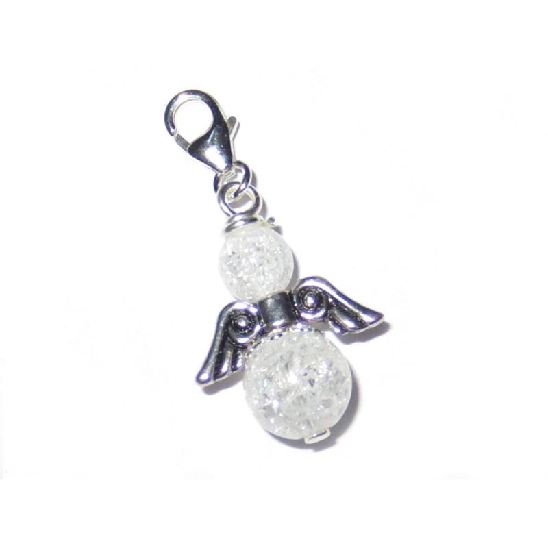 Engel-Anhänger 925 Silber Bergkristall geblitzt