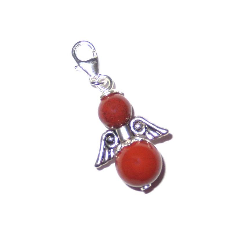 Engel-Anhänger 925 Silber Jaspis rot