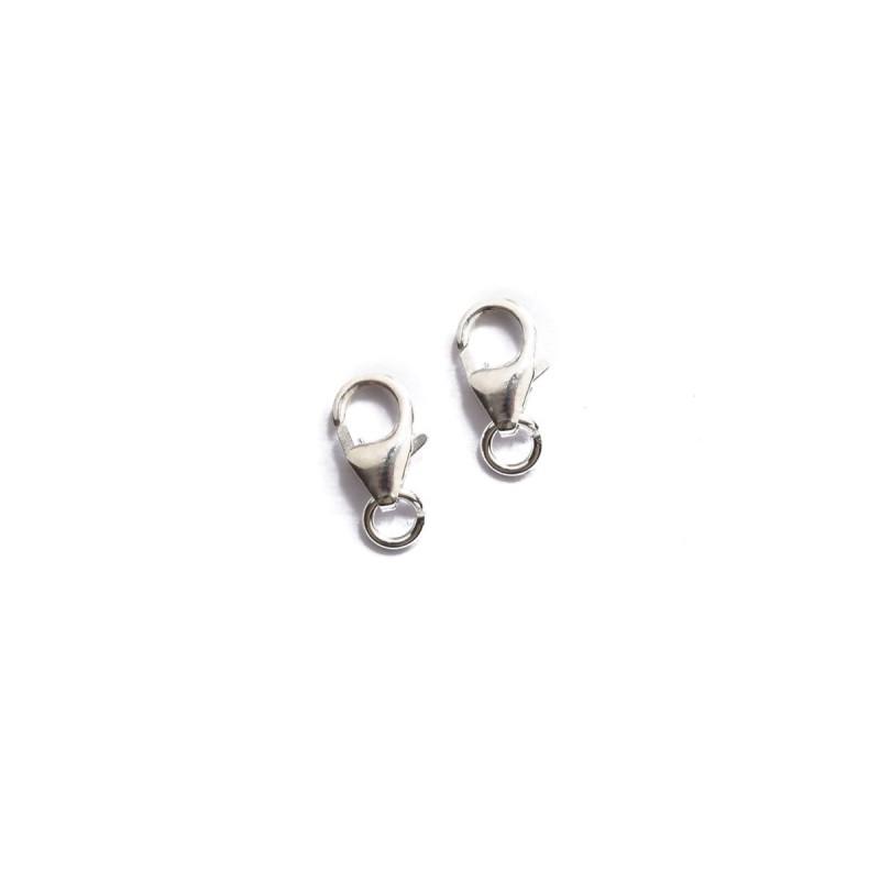 Karabinerhaken 9 mm 925 Silber 2 Stück