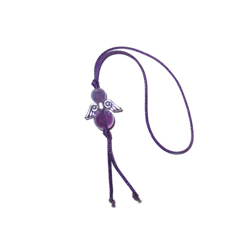 Glücksengel-Anhänger Amethyst violett