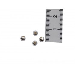 4 Kaschierkugeln rund 4 mm 925 Silber mit Maß