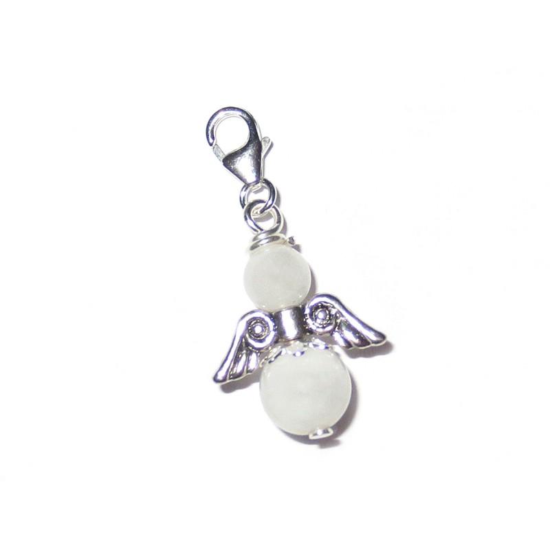 Engel-Anhänger 925 Silber Mondstein