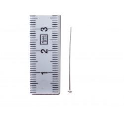 4 Nietstifte Kettelstift mit Platte 30 x 0,5 mm echt Silber mit Maß