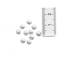 10 Perlkappen Halbschale Blüte 5 mm echt Silber mit Maßangabe
