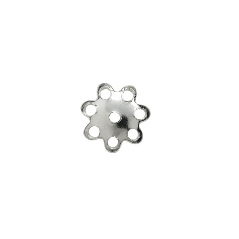 4 Perlkappen Halbschale Blüte 8 mm echt Silber Einzeldarstellung