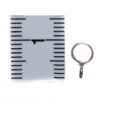 2 Zwischenperlen Änhänger-Ringe mit Öse 6 x 3 mm mit Maß