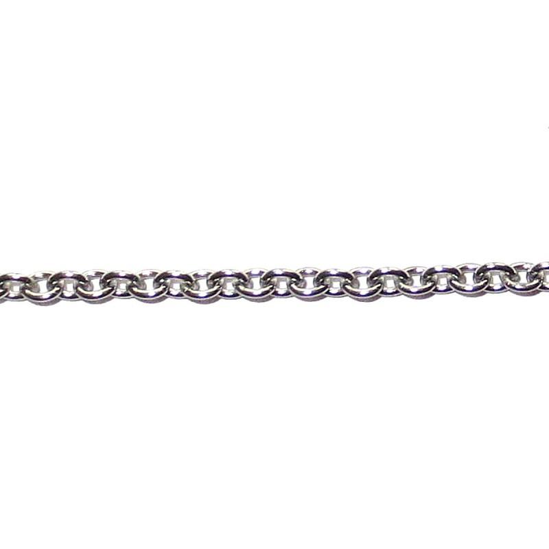 1 Meter Kette Edelstahl Gliederkette 2,5 mm