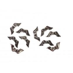 Engelsflügel 10 Metallperlen 20 x 8 x 3 mm