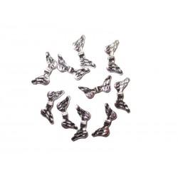 Engelsflügel 10 Metallperlen 15,5 x 6,9 mm