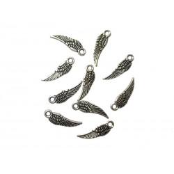 Schmuckanhänger 10 Metall-Flügel  5 x 16,8 mm
