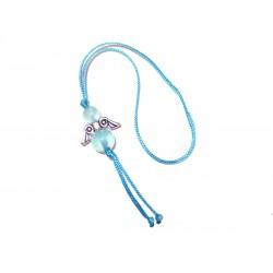 Glücksengel-Anhänger Jade meeresblau