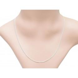 Halskette mit Verschluss versilbert Jasseronkette 5 mm Beispielbild