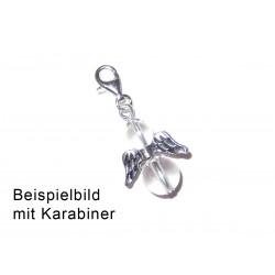 Engel Anhänger Silber Beispielbild mit Karabiner