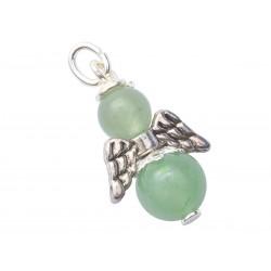 Engel Anhänger Aventurin grün Silber Edelstein Erzengel Raphael  mit Öse