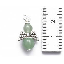 Engel Anhänger Aventurin grün Silber Edelstein Erzengel Raphael Maße mit Öse