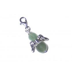 Engel Anhänger Aventurin grün Silber Edelstein Erzengel Raphael mit Karabiner