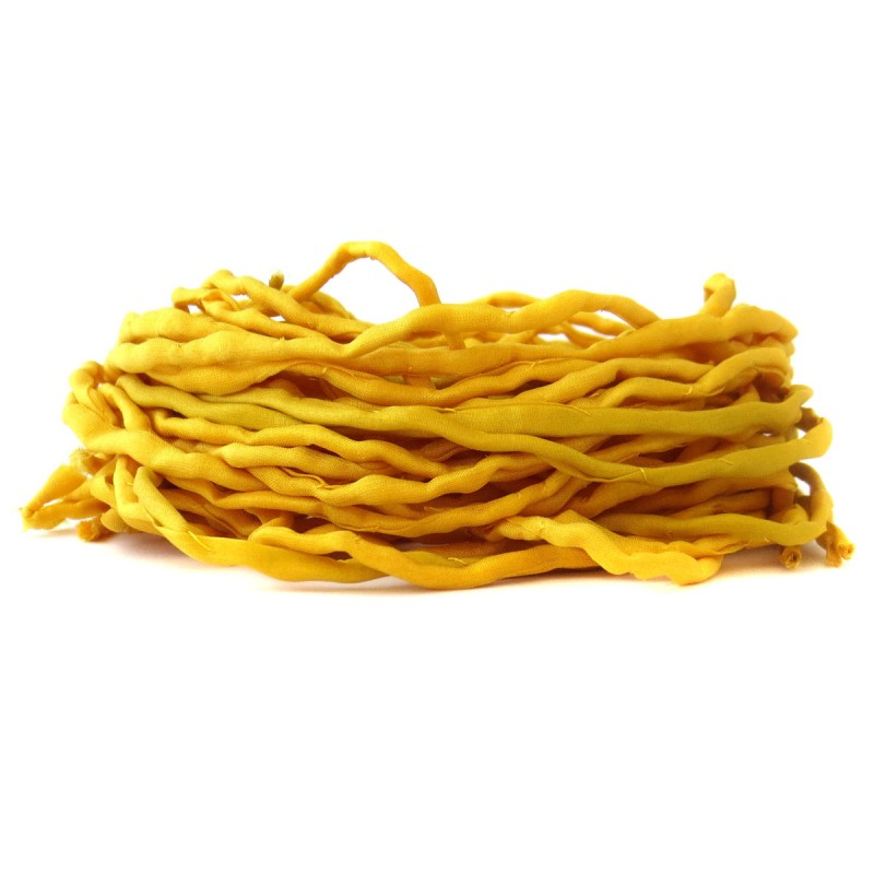 Seidenband 100 cm gelb