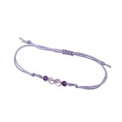 Amethyst-Perlen-Armband lila violett