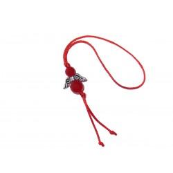 Jade rot Glücksengel-Anhänger Kordel rot