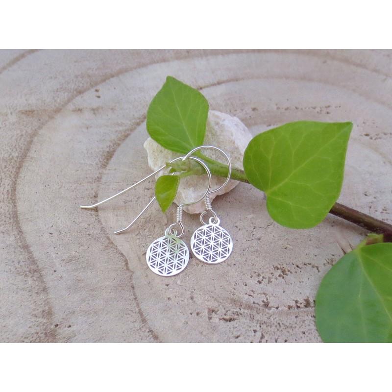 Blume des Lebens Ohrringe 925 Silber