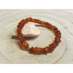 Bernstein-Armband mit Kaschierkugel in 925 Silber rhodiniert