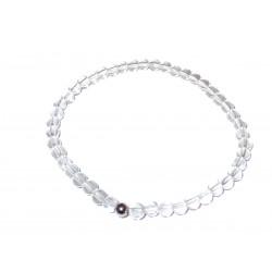 Bergkristall Perlen-Armband Kaschierkugel 925 Silber rhodiniert