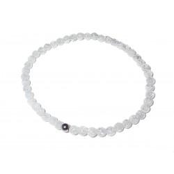 Bergkristall geblitzt Perlen-Armband Kaschierkugel 925 Silber rhodiniert