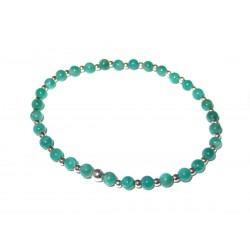 Amazonit Perlen-Armband 925 Silber Perlen