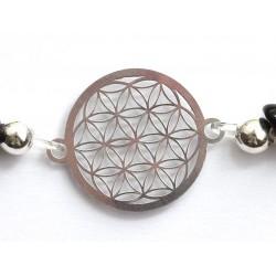 Blume des Lebens 925 Silber ohne Maßband Detail