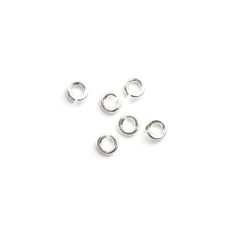 Biegering rund 4 mm 925 Silber 6 Stück