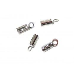 Endkappe zum Quetschen 1,5 mm 925 Silber 4 Stück