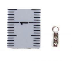 Endkappe zum Quetschen 1,5 mm 925 Silber 4 Stück mit Bemaßung