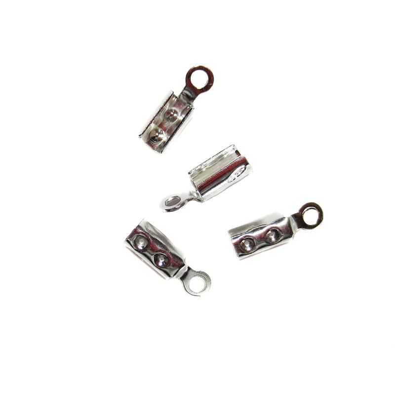 Endkappe zum Quetschen 2 mm 925 Silber 4 Stück