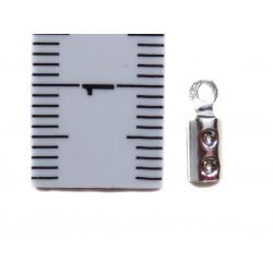 Endkappe zum Quetschen 2 mm 925 Silber 4 Stück mit Maß