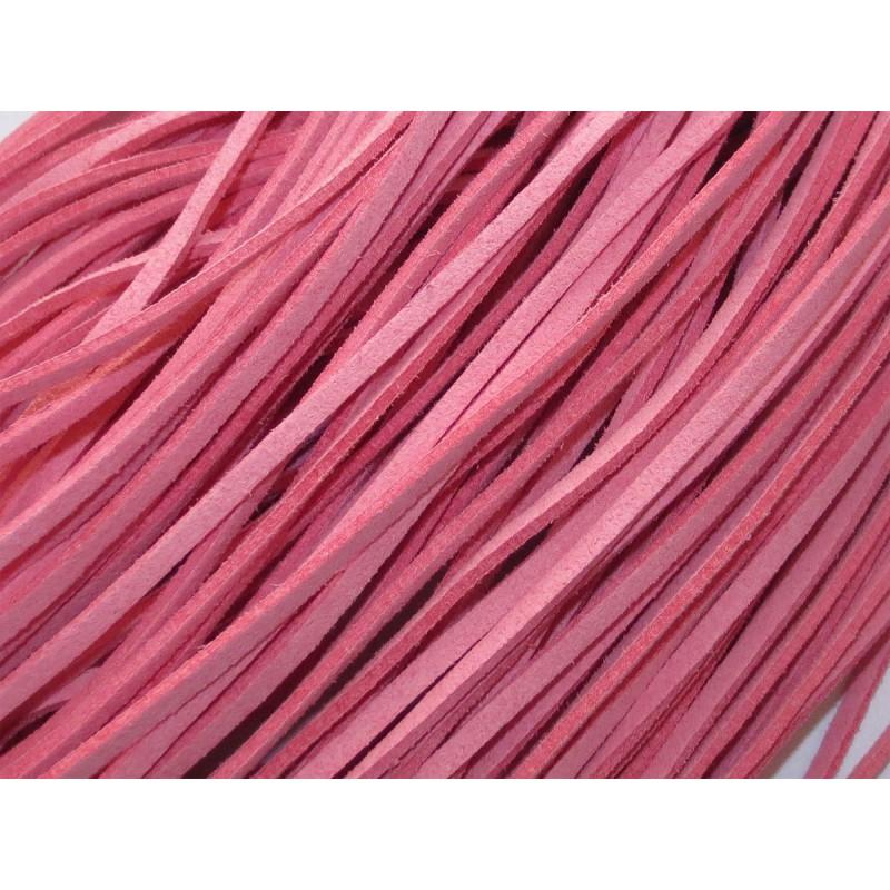 Kunstlederband Velourlederimitat pink