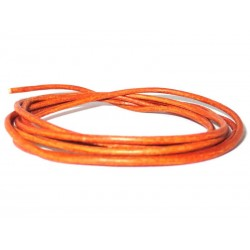 Lederband feines Ziegenleder orange
