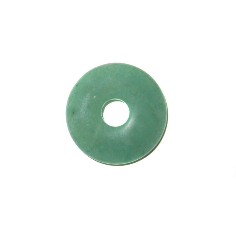Donut Anhänger Aventurin grün 30 mm