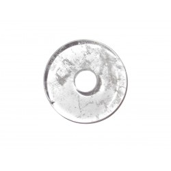 Donut Anhänger Bergkristall 28 mm