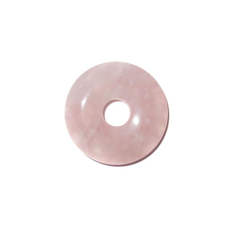Donut Anhänger Rosenquarz 30 mm