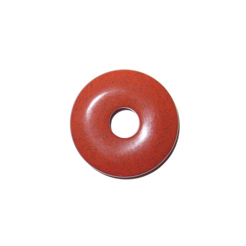 Donut Anhänger roter Jaspis 30 mm
