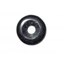 Donut Anhänger schwarzer Turmalin 30 mm