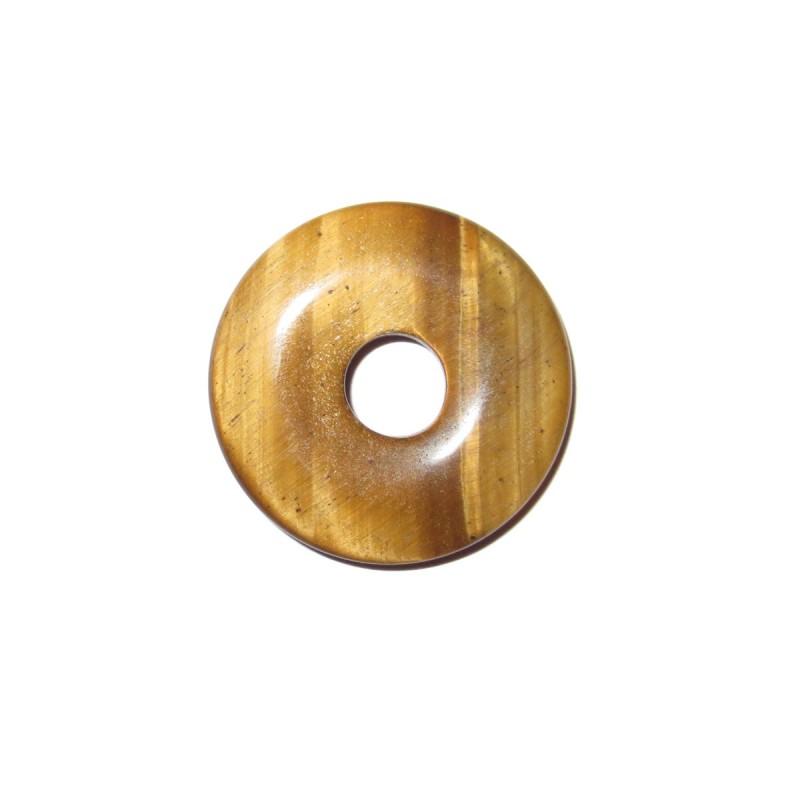 Donut Anhänger Tigerauge 30 mm