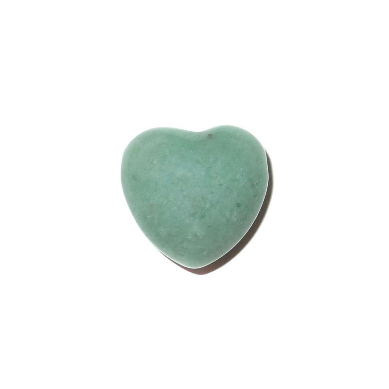 Herz Schmuckstein-Anhänger Aventurin grün