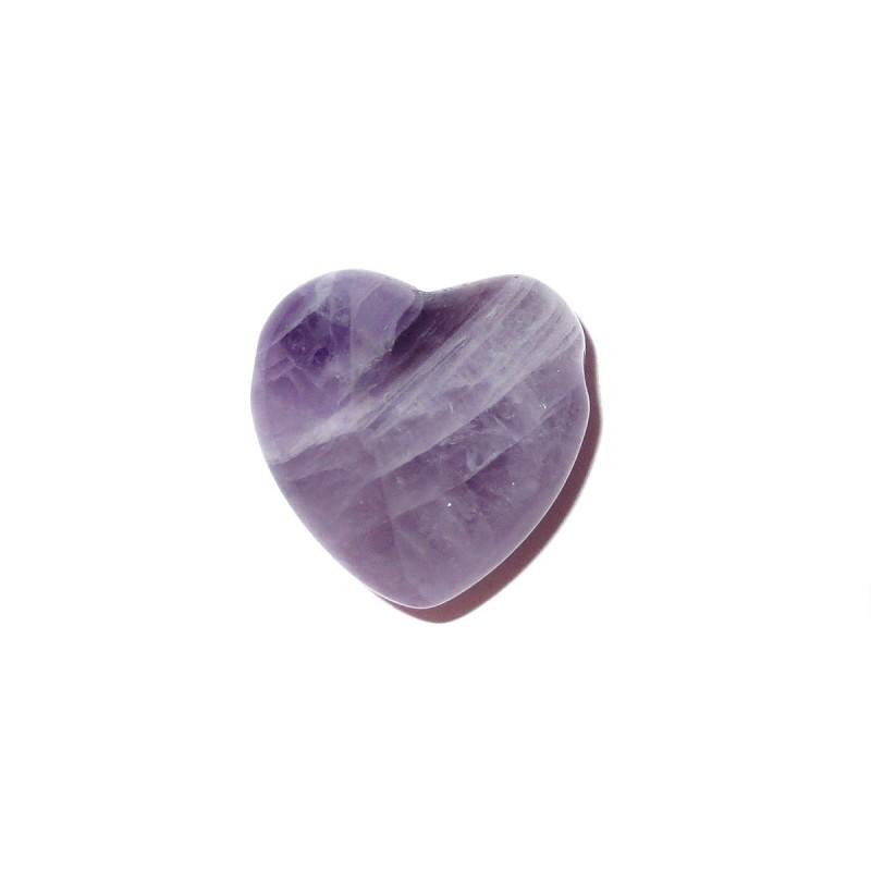 Herz Schmuckstein-Anhänger Amethyst violett