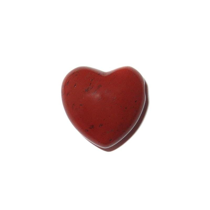 Herz Schmuckstein-Anhänger Jaspis rot