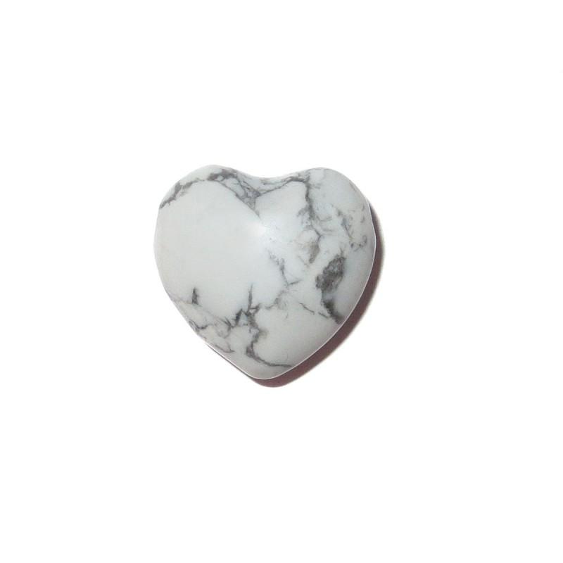 Herz Schmuckstein-Anhänger Magnesit