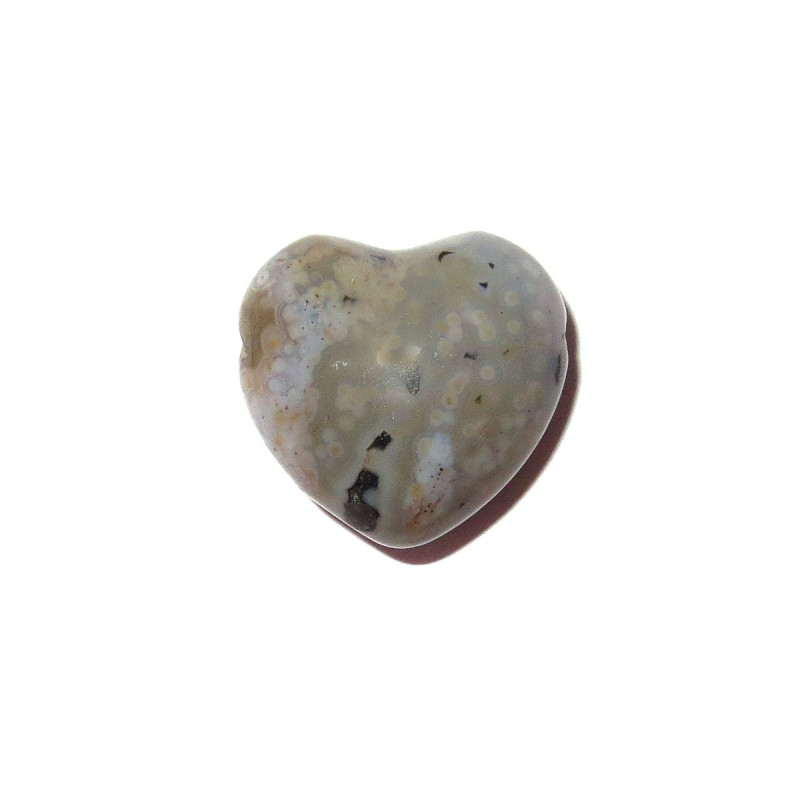 Herz Schmuckstein-Anhänger Ozeanjaspis