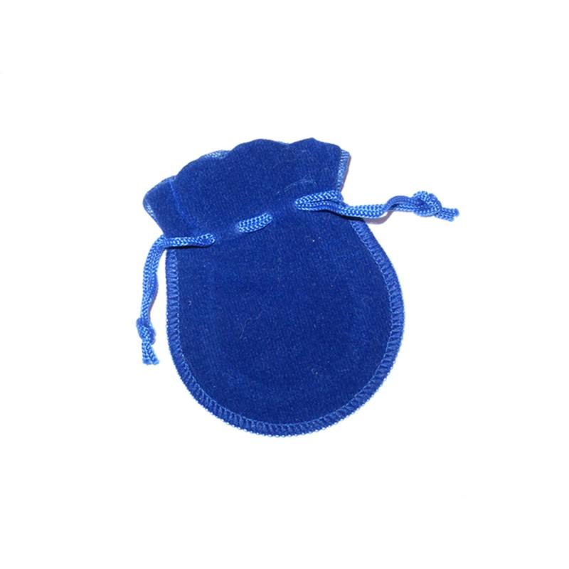 Samtbeutel dunkelblau Geschenktäschchen 7x9 cm
